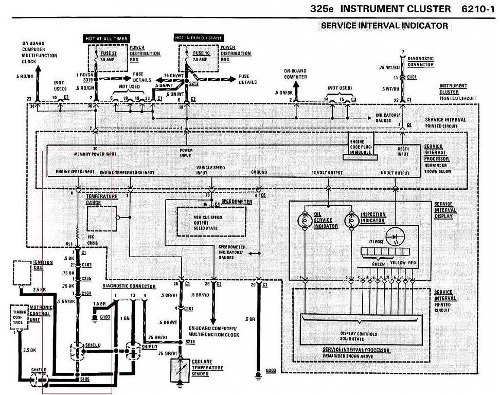 Bmw E30 Rev Counter Wiring Diagram : C and wire diagram e m adapter page