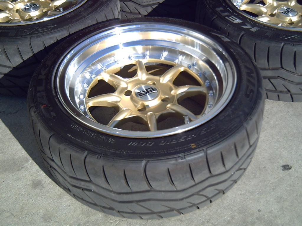gold 16x8 esm wheels style 001 falken azenis tires 215 45 16 r3vlimited forums. Black Bedroom Furniture Sets. Home Design Ideas