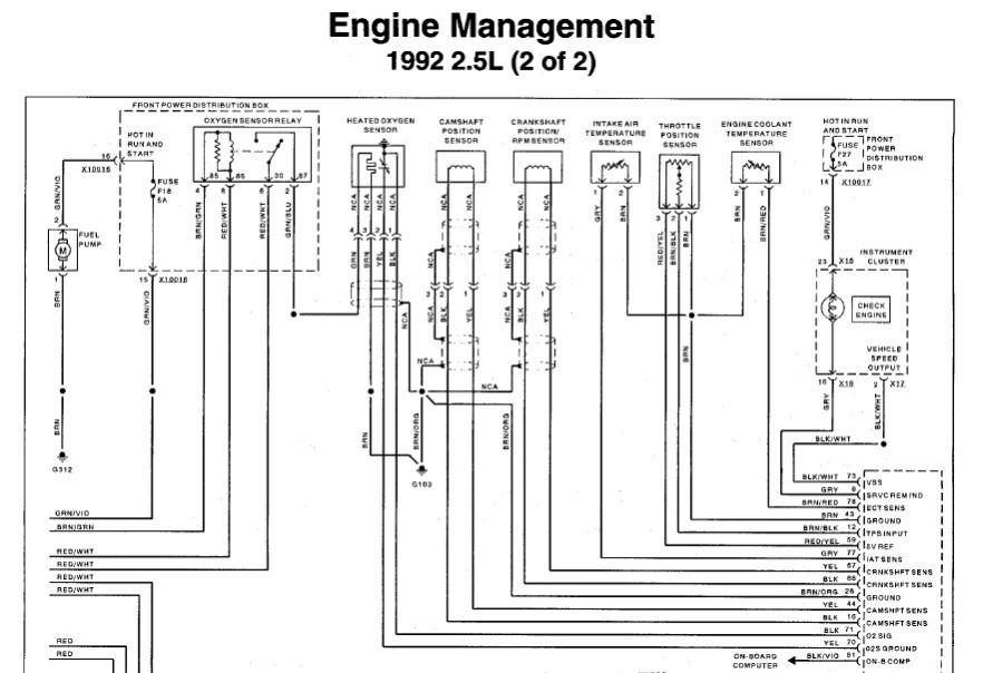 m50 engine wiring harness color code