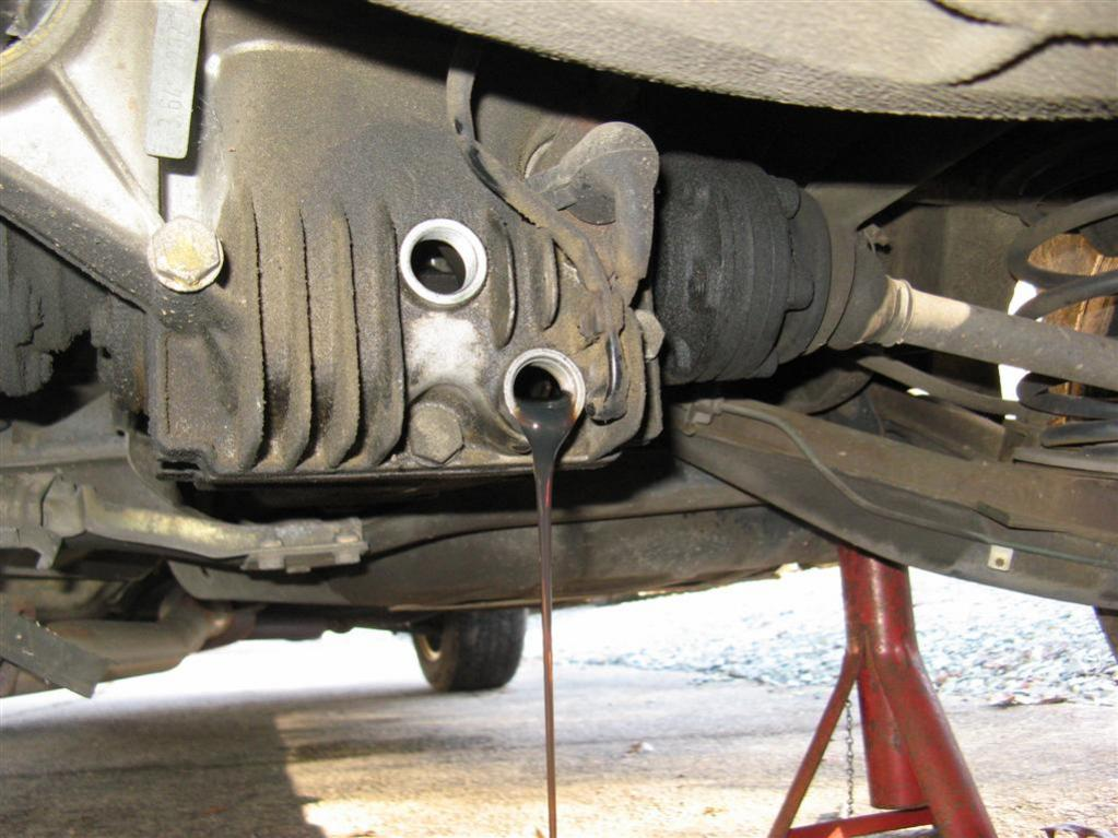 how to change rear end oil