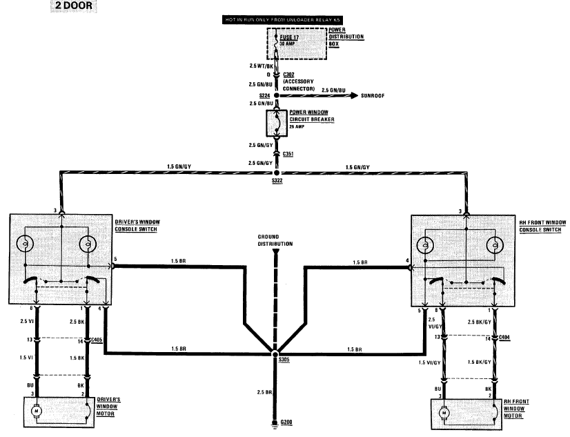 e30 wiring diagram basics r3vlimited forums pwr windows